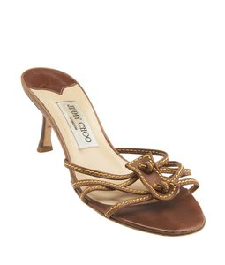 Jimmy Choo Leather Pumps Tan Sandals