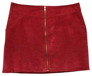Mango Mini Skirt Passion Red
