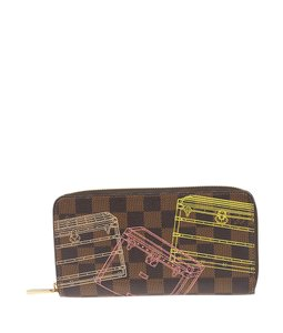 Louis Vuitton Limit Edition Damier Ebene Coated Canvas Zippered Wallet