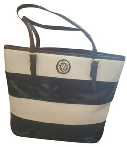Anne Klein Tote in Black and white stripes