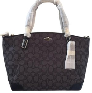 Coach Satchel in Black/Smoke