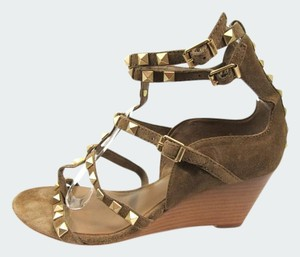 Ash Rock Stud Suede Wedge Suede Rock Stud Suede Rock Stud Wedge Brown Sandals