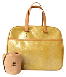 Louis Vuitton Patent Leather Tote in Yellow