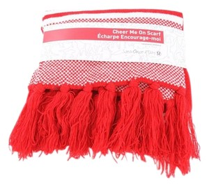 Lululemon Cheer Me On Scarf Red/White BNWT