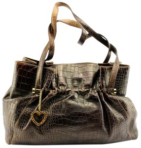 Lovcat Crocodile Vintage Leather Hobo Bag