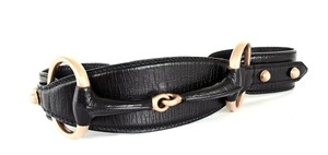 Gucci Gucci Horsebit Belt Leather and Golden Metal Size 80 32