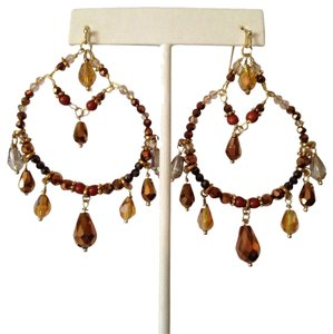 Nakamol Nakamol Bronze-Tone Mix-Beaded Briolette Drop Earrings