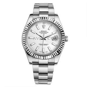 Rolex Rolex Datejust II Stainless Steel & White Gold Watch White Index Dial