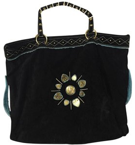 Gucci Tote in Black Turquoise Gold