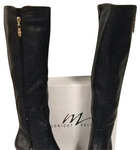 Midnight Velvet Black Boots