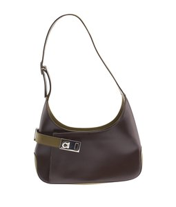 Salvatore Ferragamo Ao-21 0348 Leather Shoulder Bag