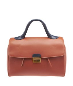 Céline Orange Satchel in Multi-Color