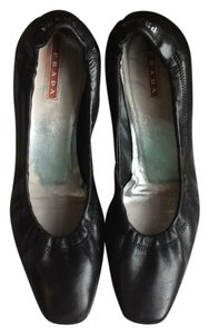 Prada Heels Leather Black Pumps