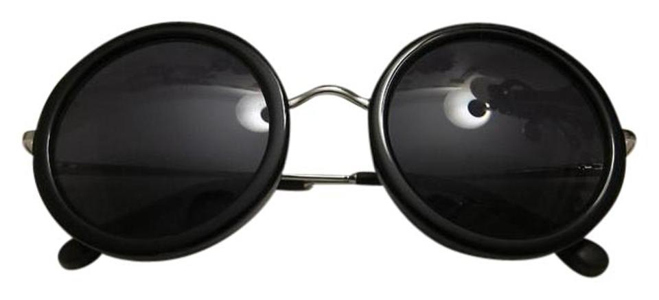 31be39f9a169 The Row Black New Linda Farrow Round Sunglasses - Tradesy