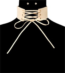 Other Suede Corset Choker