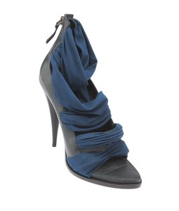 Givenchy Sandals Heels Leather & Fabric Blue,Green Pumps