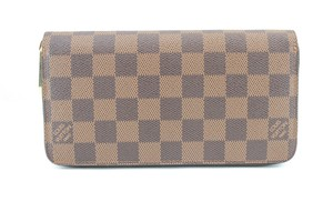 Louis Vuitton #9650 Damier Ebene Long Wallet zip around organizer