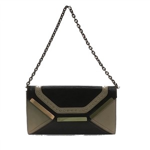 Sondra Roberts Brown/Beige Clutch