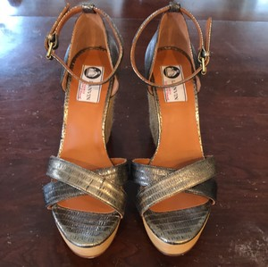 Lanvin Wedges with metallic grey leather Wedges