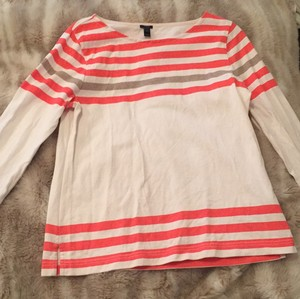 J.Crew Top Pink, White Grey Striped