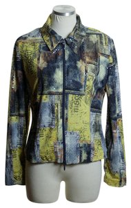 Joseph Ribkoff Blue Yellow Jacket
