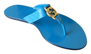 Gucci Gg Turquoise Sandals