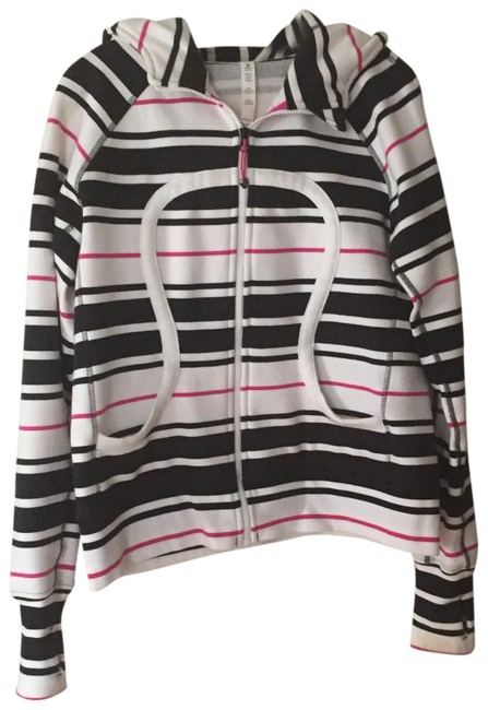 Item - Black/Hot Pink/White Scuba Hoodie Activewear Size 12 (L)