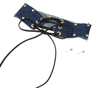 UNBRADED Denim Corset Choker