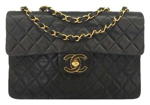 Chanel Maxi Classic Lambskin Quilted Shoulder Bag