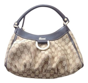 Gucci Like New Leather D Ring Satchel in Espresso Brown