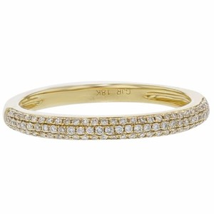 Other 0.25ct Micro Pave Diamond 18k Yellow Gold Band Ring