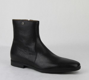 Gucci Men's Black Leather Ankle Boot W/g Logo Gucci 10/ Us 11 295639 1000