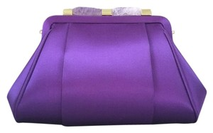 Oscar de la Renta Purple Clutch