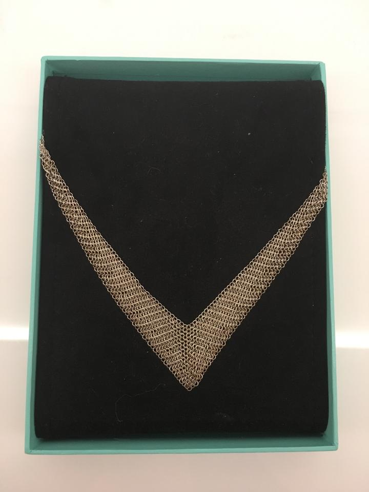 8014192a8 Tiffany & Co. Elsa Peretti Sterling Silver Mesh Scarf Necklace Image. 12345