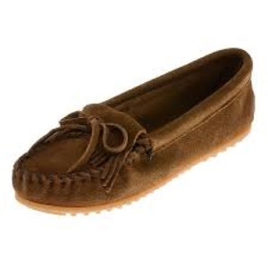 Minnetonka Dusty Brown Flats