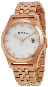 Marc by Marc Jacobs Marc by Marc Jacobs The Slim White Dial Rose Gold-tone Watch MBM3392