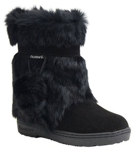 Bearpaw Rabbit Fur BLACK Boots