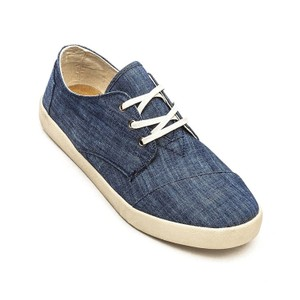 TOMS Classic Canvas Blue Chambray Flats