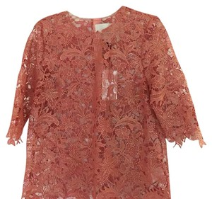 Kung Katherine T Shirt Gold-dusted salmon lace
