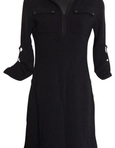 Elie Tahari short dress Black Wool on Tradesy