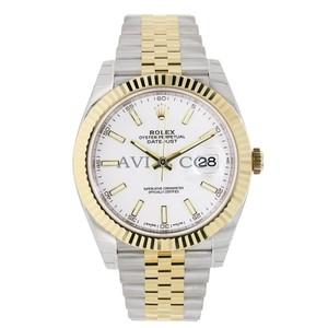 Rolex Rolex Datejust 41 Steel & Yellow Gold White Dial Jubilee Bracelet