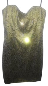 David Meister Size 8 Strapless Sequins Cocktail Dress