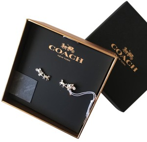 Coach Coach Carriage Silver Earring