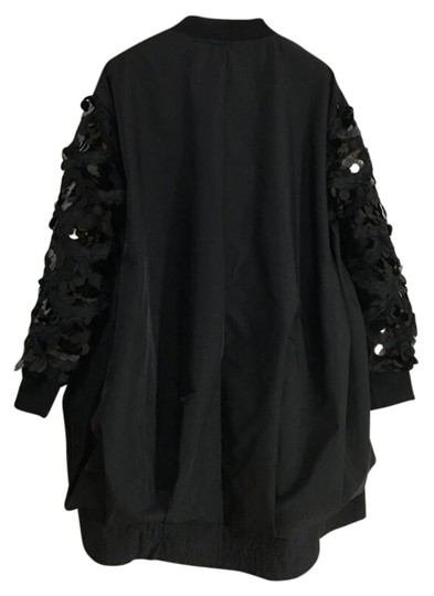 Knowles&co Satin Blend With Sequin Sleeves Black Jacket #20287028 - Jackets 50%OFF
