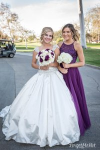 Mori Lee Plum/Eggplant Long Tulle Mori Lee Bridesmaid Dress Style #136 Dress