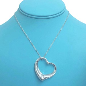 Tiffany & Co. Tiffany And Company Extra Large Open Heart Elsa Peretti Necklace. Sterling Silver And 30