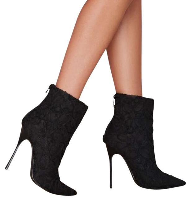 Item - Black Your Place Lace Boots/Booties Size US 10 Regular (M, B)