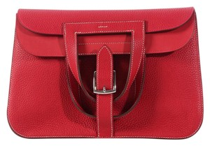 Hermès New Palladium Hr.k0825.02 Red Shoulder Bag