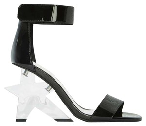 Jeffrey Campbell Patent Leather Heel Starla Black Sandals