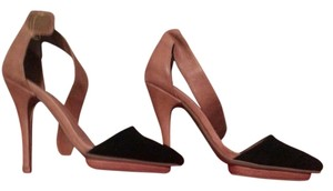 Jeffrey Campbell Brown and Black Pumps